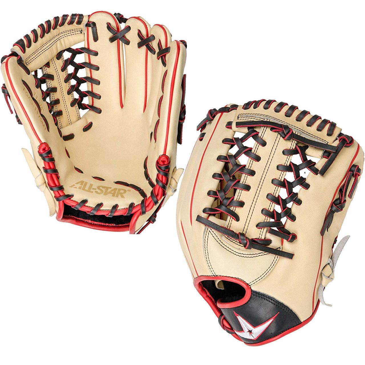 all-star-pro-elite-11-75-baseball-glove-cream-black-scarlet-right-hand-throw FGAS-1175MT-CRBKSC-RightHandThrow All-Star 029343048258 What makes Pro Elite the most trusted mitt behind the dish