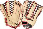 all star pro elite 12 75 outfield baseball glove cream black scarlet right hand throw