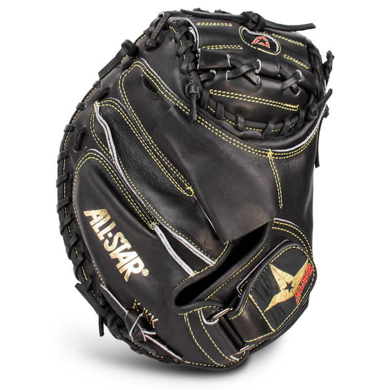 all-star-pro-elite-catchers-mitt-black-closed-black-35-inch-right-hand-throw CM3000BK-RightHandThrow  029343034565 <span>The All Star <span>CM3000<span> Series Catchers mitts are the mitts of