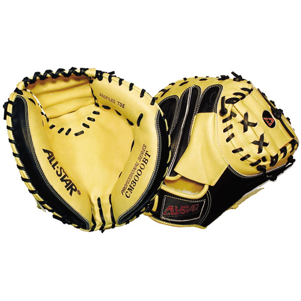 all-star-professional-cm3000-series-35-baseball-catchers-mitt-right-hand-throw CM3000BT-Right Handed Throw All-Star 029343301513 The All Star CM3000 Series Catchers mitts are the mitts of