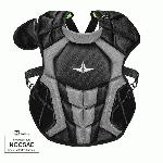 all star s7 axis chest protector 12 16 15 5 black grey nocsae