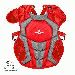 all star s7 axis chest protector 12 16 15 5 red grey nocsae