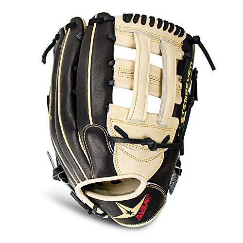 all-star-system-7-baseball-glove-fgs7-of2l-h-web-12-75-right-hand-throw FGS7-OF2L-RightHandThrow All-Star 029343042041 12.75 Inch Model H Web Deep Pocket Easy Break-In Pro Guard