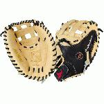 This glove is recommended for elite travel ball through collegepro level play. All-Stars Vela Dual-Pro Catching Mitt is designed for fastpitch catcher's looking for a classic pattern with durability and fast break in. This mitt has a deep pocket that will increase performance and help cut the spin fast. Cowhide leather for optimal blend of firmness and softness. Dual-hinge heel design with dual post H-Web to help secure balls. Velcro closure for custom fit. 33 Inch Length.