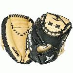 For an entry level mitt, the All Star CM1011 Youth Comp 31.5 Catcher's Mitt is an ideal choice to get your young player used to action behind the plate. It combines pre-softened tan leather on the inside of the mitt for easy break-in with a more supportive black leather backing to give the support and hand protection they need to gain confidence. Features: Black leather backing provides durable support Pre-softened leather on palm side of mitt Pro formed pocket with Flex Action crease for easy closure Velcro wrist closure for a snug fit Size: 31.5 Position: Catcher Web Pattern: Two-piece solid web Back: Open
