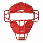 Allstar Lightweight Ultra Cool Tradional Mask Delta Flex Harness Black (Scarlet) : All Star Catchers Mask... Patented Design With Ultimate Protection! All Star Ultra Cool Lightweight Catchers Mask feature: I-Bar Vision design Lightweight Ultra Cool traditional mask Padding surrounds mask providing comfort and dries quickly Patented Delta Flex Face Mask harness Weighs 20.4 oz Colors: Coolest & Lightest Mask Available.