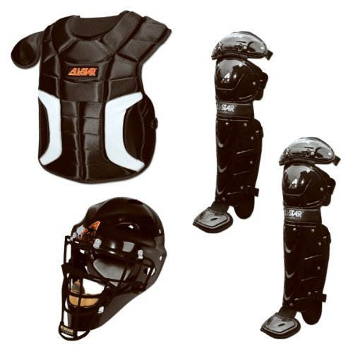 allstar-players-series-catchers-set-ages-7-9-black CK79PS-Black  029343950018 Gear-up with the youth Player Series baseball catchers package from All-Star.