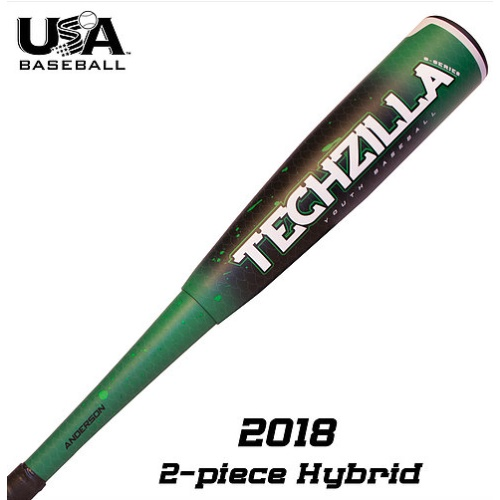 anderson-2018-techzilla-s-series-9-hybrid-youth-usa-baseball-bat-31-in-22-oz 015034-3122 Anderson 874147008560 The 2018 Techzilla S-Series Hybrid lets your young hitter experience maximum