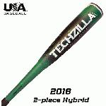 "The 2018 Techzilla S-Series Hybrid lets your young hitter experience maximum speed and jaw-dropping performance with an end loaded feel. Designed similar to the original Techzilla XP, with the PowerArch technology, the Techzilla S-Series Hybrid provides a highly-responsive hitting surface and outstanding durability. The TaperFlex contour composite handle ensures superior feel and flex. The Techzilla S-Series is USABat approved. deal for players ages 10-13 • Ultra-Thin Whip Handle for better bat speed • 2 5/8"" Barrel • -9 Drop Weight • End Loaded for more POWER, guaranteed! • Hot out of the wrapper, no ""break-in"" period necessary • Newly designed light weight end cap support barrel performance • Hybrid design with aerospace M1 alloy barrel & composite handle • Approved For USABat and Most Baseball Associations Including: Little League, Dixie Youth, Babe Ruth, Cal Ripken, AABC & Pony • Model #: 015034 • Manufacture Warranty: 1 year against manufacture defects"