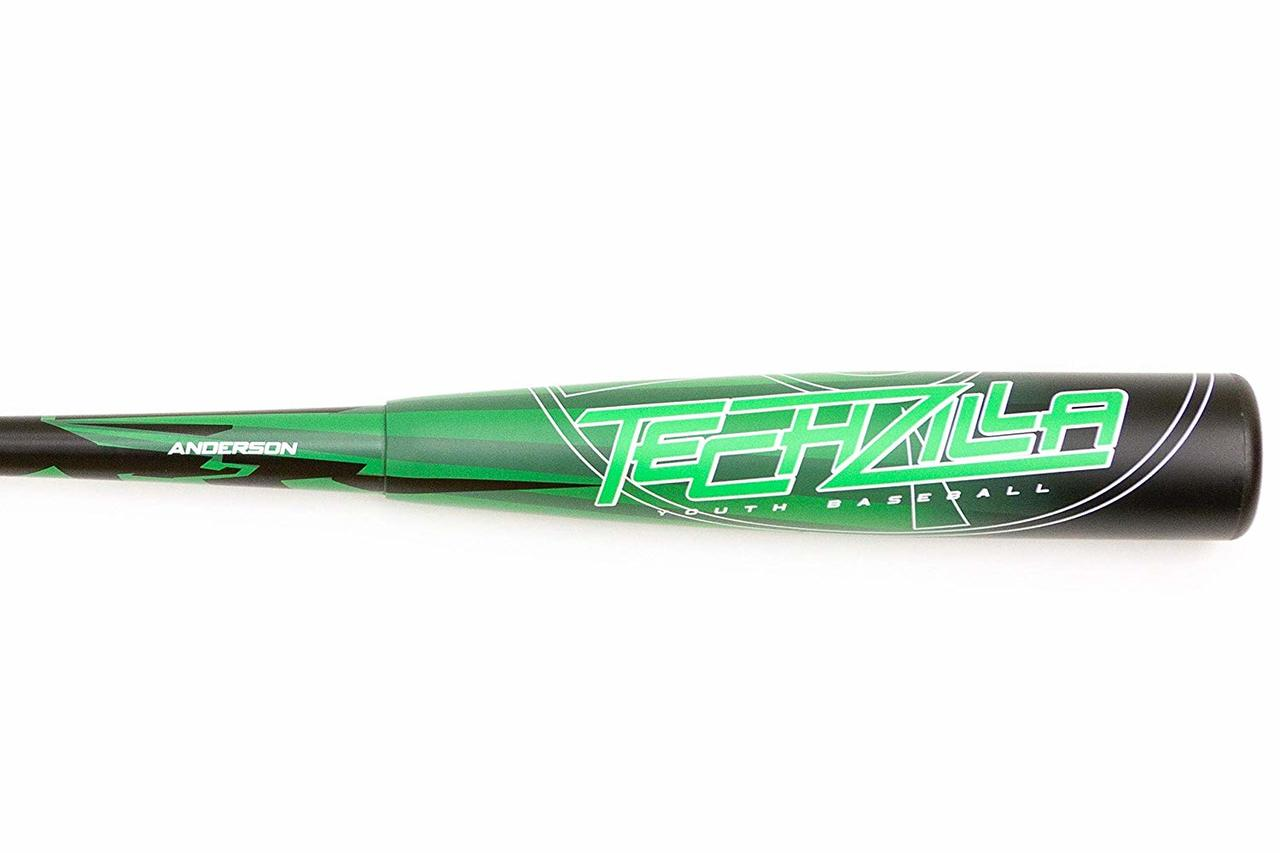 "anderson-2019-techzilla-s-series-8-hybrid-youth-usa-baseball-bat-30-in-22-oz 015037-3022  874147009116 2 5/8"" Barrel -8 Drop Weight Hybrid design with aerospace M1"