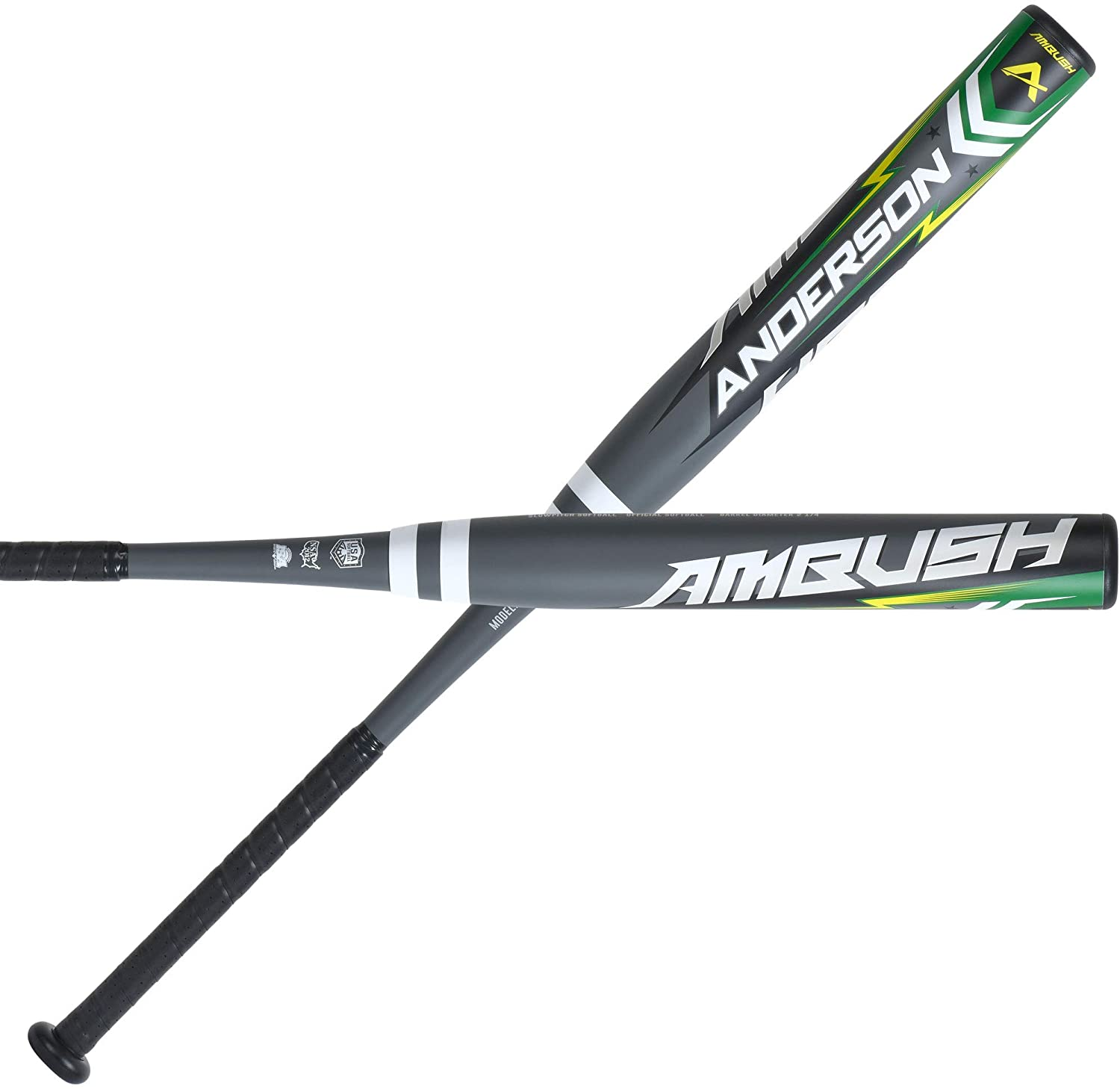 anderson-ambush-2021-composite-slowpitch-softball-bat-34-inch-28-oz 0110533-3428 Anderson  Anderson Rocketech has been dominating the double wall alloy slowpitch market.