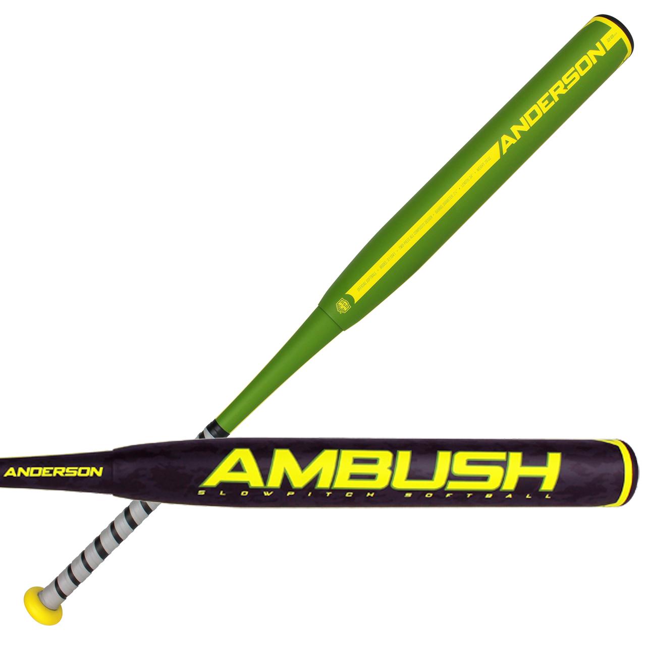 anderson-bat-company-ambush-asa-slow-pitch-softball-bat-34-inch-30-oz 110413430  874147007754 The 2017 <strong>Ambush Slow Pitch</strong> two piece composite bat is made
