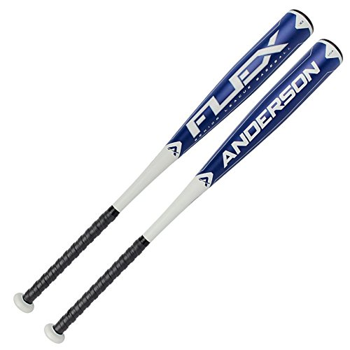 The Anderson Flex -10 Senior League 2 34 Barrel bat is made from the same type of material used to launch planes 30,000 feet into the air. The one piece design offers Sherman Tank like durability so you\ll never have to worry about breaking the bat with normal usage in games and practice. We\ve packed as much weight in the sweet spot to create a \x93trampoline\ effect when you make contact on the bat\x sweet spot. The Flex SL bat has a Reduced Moment of Inertia (the effort necessary to swing the bat) allows you to generate break neck bat speed without burning an extra ounce of effort. It\x like swinging a bat with the force of a sledgehammer with the effort of a fly swatter producing more powerful hits, massive ball speed and bigger offensive numbers.