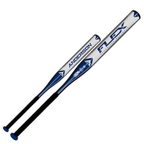 The Anderson 2015 Flex Slow Pitch bat is Virtually Bulletproof! Constructed from our aerospace alloy the one piece design is considered one of our most durable bats so you\ll never worry about your new FLEX denting or cracking in the middle of a season. The Flex Slow Pitch is a balanced bat made to give hitters just the right balance of power plus speed with a thin, buggy whip handle for generating more bat speed to snap the bat head through the zone plus a \x93muscled up\ barrel for extra pop and distance upon contact. The Reduced Moment of Inertia (the effort necessary to swing the bat) allows you to generate break neck bat speed without burning an extra ounce of effort. It\x like swinging a bat with the force of a sledgehammer with the effort of a fly swatter producing more powerful hits, massive ball speed and bigger offensive numbers. Never worry about blisters or tired, sore hands with the FLEX\x plush padded spiral grip which provides a pillow soft feel with leather tough durability. Don\t wait for your bat to \x93break in\, the Flex Slow Pitch Bat comes out of the wrapper white hot and requires just a handful of swings to be primed and ready for teeing off opposing pitchers.