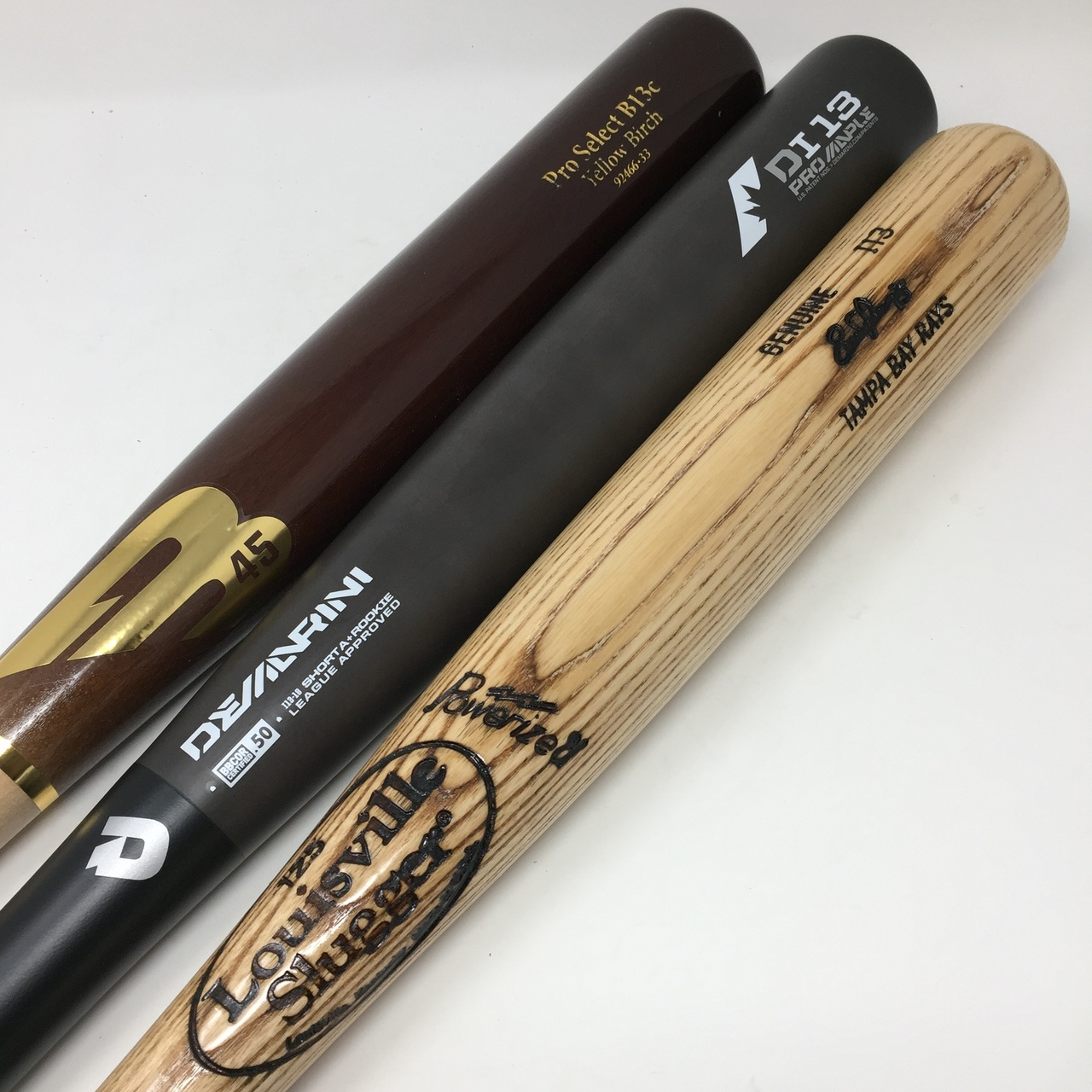 bat-pack-3-bats-i13-turning-model-33-inch-b45-birch-demarini-composite-louisville-slugger-i13-ash BATPACK-0006   1. GI13EL-33/30 Louisville Slugger MLB Evan Longoria Ash Adult Baseball Bat