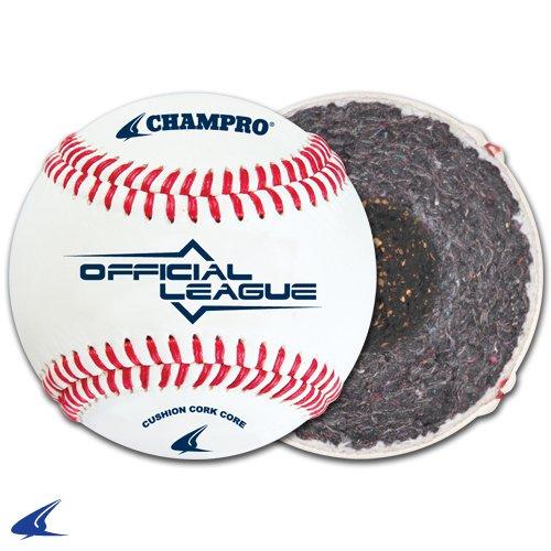 champro-c-grade-cbb-200-official-league-cushion-cork-core-cover-baseballs-available-by-the-dozen-1-dozen CBB-200C  New Champro C Grade CBB-200 Official League Cushion Cork Core Cover Baseballs