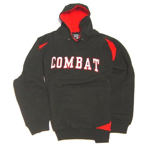 combat-sports-mens-hooded-sweatshirt-black-red-medium 801000-BlackRedMedium  New Combat Sports Mens Hooded Sweatshirt BlackRed Medium  Combat hoodie looks
