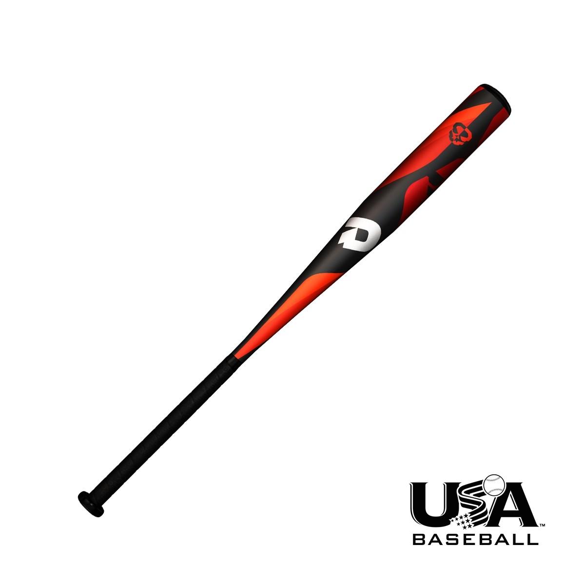 demarini-2018-uprising-usa-baseball-bat-29-inch-19-oz-2-5-barrel WTDXUPL1929-18  887768664251 High-strength DX1 alloy built for performance Ironed end cap for lighter