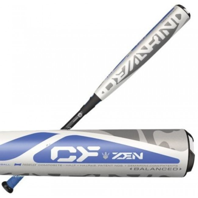 demarini-cf-zen-balanced-10-drop-2-3-4-baseball-bat-whiteblueblack-30-in-20-oz DXCBZ2030-17 DeMarini 887768486150 Loaded with technology from the RCK knob to Low Pro end