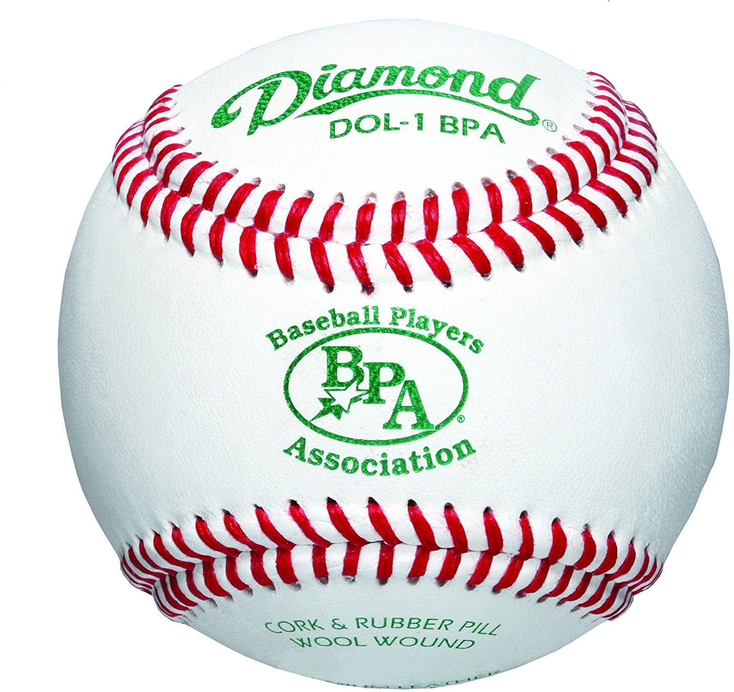 diamond-baseball-players-association-select-wool-blend-winding-baseball-1-dozen DOL-1-BPA-DOZ Diamond  <p>Select wool blend winding Cork and rubber center Premium leather cover