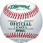 pDiamond Bucket with 5 doz DOL-A Offical League Baseballs Shipped. Leather cover. Cushioned cork center. Yarn wound. Full grain leather cover./p