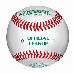 Diamond Duracover Cushioned Cork Raised Seam Baseballs DOL-DBA Official League. 5 dozend baseballs and bucket. Official League Cushioned cork center Yarn wound Duracover trade. Raised Seam Economy balls not suitable for pitching machine use.