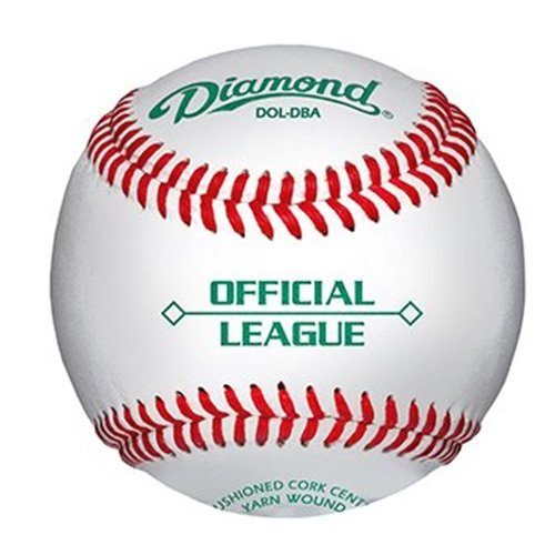diamond-bucket-with-5-dozen-dol-dba-baseballs DOL-DBA-BUCKET Diamond  Diamond Duracover Cushioned Cork Raised Seam Baseballs DOL-DBA Official League. 5