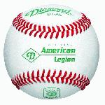 Official Ball of the American Legion World Series Premium leather cover with cushioned cork center. DriCore¿ technology A-Grade grey wool winding and Diamond Seam¿ Diamond Sports products are guaranteed against defects in workmanship and materials for 1 year.