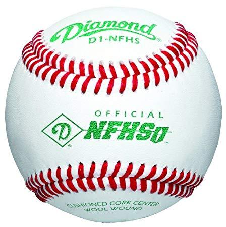 diamond-d1-nhfs-baseballs-1-dozen D1-NFHS-DOZ Diamond 039403141119 National Federation of State High School Association.Cushioned cork center A-grade grey