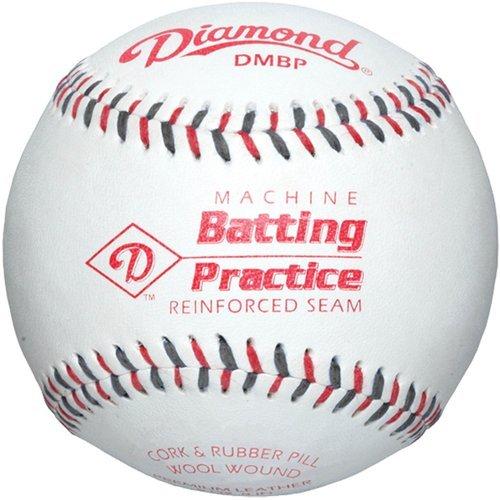 diamond-dmbp-leather-pitching-machine-baseballs-1-dozen DMBP-DOZ Diamond 039403196270 <strong>Diamond Leather Pitching Machine Baseball Dozen<br /><br /></strong> Official 9 pitching