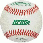 diamond dol 1 nfhs official league leather baseballs 1 dozen