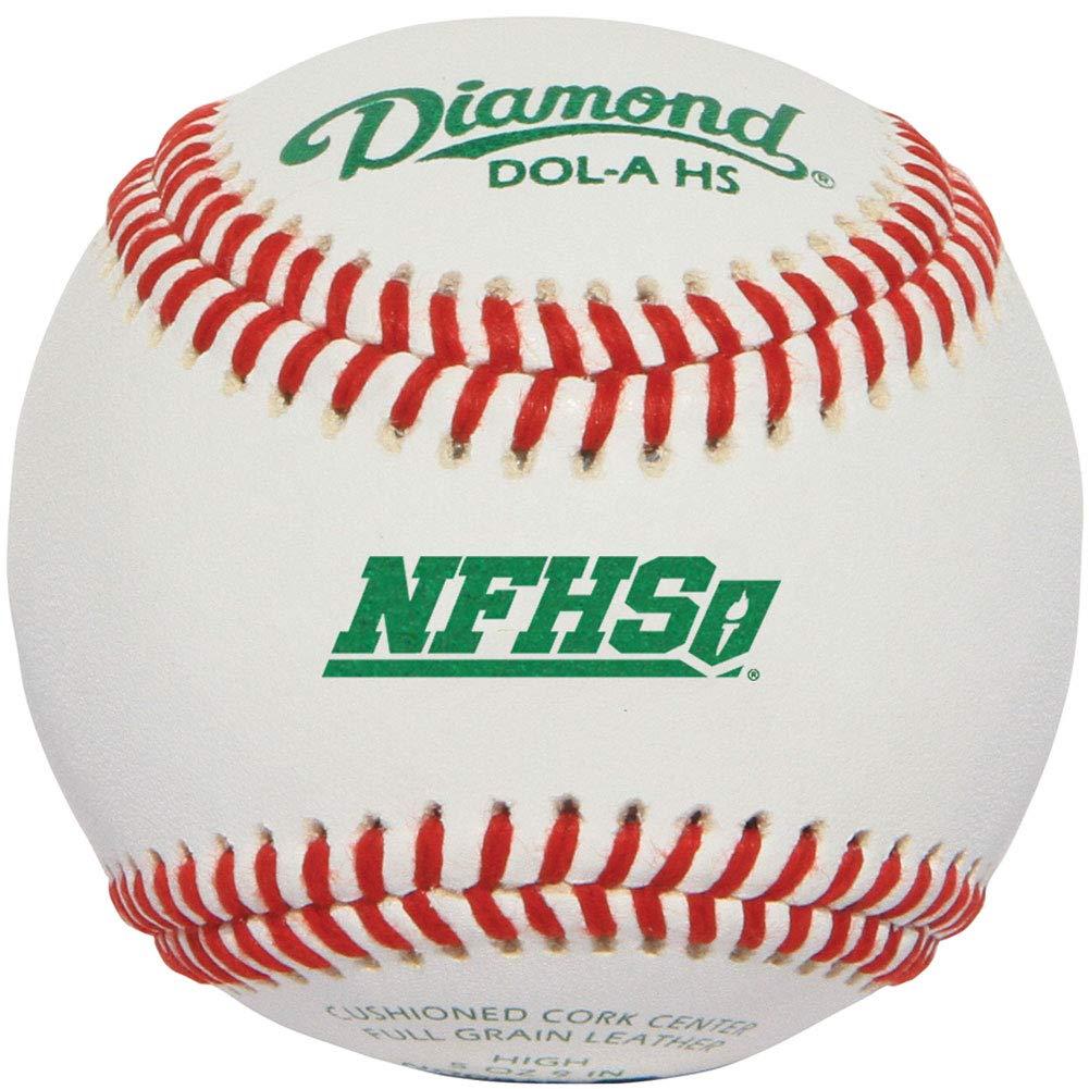 diamond-dol-a-nfhs-nocsae-official-league-baseball-1-dozen DOL-A-HS-DOZ Diamond 039403111525 Full-grain leather cover forA durability RaisedA seam construction for better control