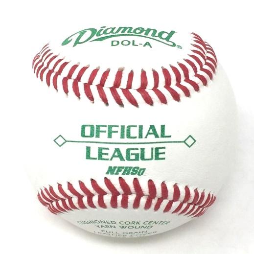 diamond-dol-a-official-league-baseball-1-doz DOL-A-DOZ Diamond 039403102134 <p>Official League cushioned cork center A-grade gray wool blend winding premium