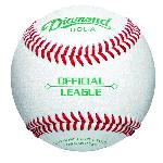 spanDiamond DOL-A Official Leaguel leather baseballs features durable full-grain leather cover, raised seam construction,  yarn wound , and cushioned cork center./span