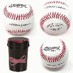 diamond dol x official baseballs 30 balls and bucket leather