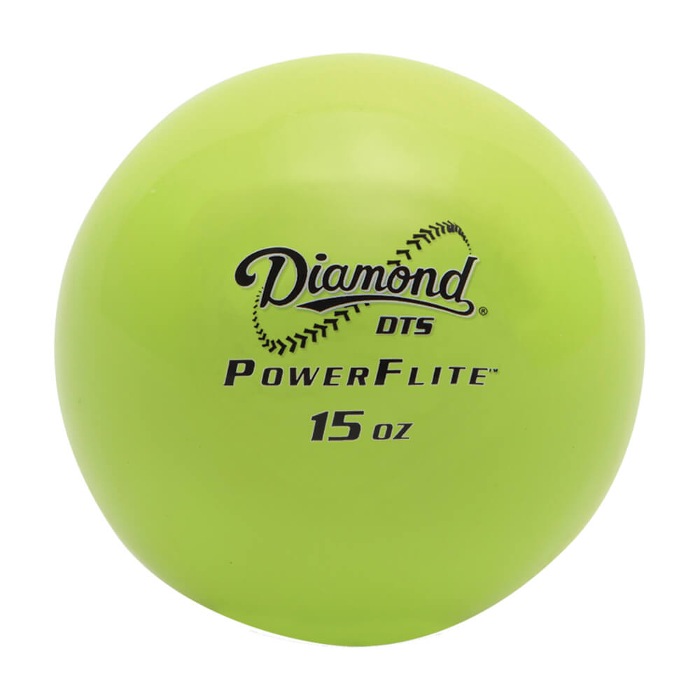 diamond-dts-power-flite-weighted-hitting-training-balls-baseballs-6-pack DTS-PF-6-PACK  039403354335 The Diamond Flexible Training Balls feature a limited flight design making