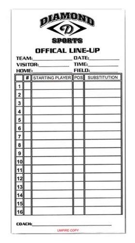 diamond-softball-baseball-lineup-cards-white-packaged-in-sets-of-25 LINEUPCARD Diamond 039403431814 Diamond Softball Baseball Lineup Cards WHITE PACKAGED IN SETS OF 25