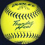 The USSSA Thunder Heat softball is not nearly as susceptible to compression changes under increased temperature (100\xB0 F) and decreased temperature (40\xB0 F) compared to .40, .44 and .47 poly care softballs. This translates into a much more uniform and consistent compression ball from Spring play thru late Summer.