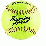 Dudley Thunder Heat 12 ASA Fastpitch Softballs Composite Cover COR 47 Compression 375lbs 1 Doz