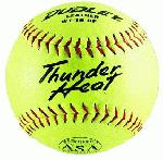 Dudley Thunder Heat 12 ASA Fastpitch Softballs Leather Cover COR 47 Compression 375lbs 1 Doz