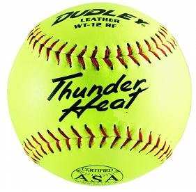 dudley-thunder-heat-12-asa-fastpitch-softballs-leather-cover-cor-47-compression-375lbs-1-doz 4A147Y  026307906494 Dudley Thunder Heat 12 ASA Fastpitch Softballs Leather Cover COR 47