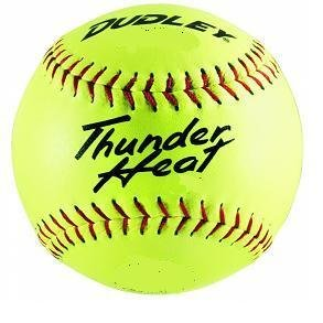 dudley-thunder-heat-12-nfhs-fastpitch-softballs-composite-cover-core-47-compression-375lbs-1-doz 43065Y  026307430654 Dudley Thunder Heat 12 NFHS Fastpitch Softballs Composite Cover Core .47