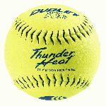 dudley usssa thunder heat slow pitch classic m softballs leather 1 dozen