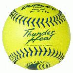 Dudley WT 12 Inch Fastpitch USSSA Softballs (1 dozen) : Leather cover is highly durable and provides great look and feel High density polyurethane center with maximum resiliency Fastpitch softball with Blue stitch Compression: 375 lbs .47 COR USSSA approved