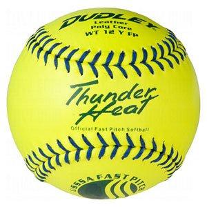 dudley-wt-12-inch-fastpitch-usssa-softballs-1-dozen 4U-147Y  026307430463 Dudley WT 12 Inch Fastpitch USSSA Softballs 1 dozen  Leather