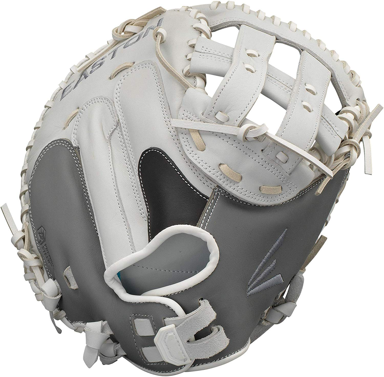 easton-ghost-fastpitch-softball-catchers-mitt-34-right-hand-throw GH21FP-RightHandThrow  628412270110 Premium Steer USA leather Quantum Closure SystemTM provides adjustable hand opening