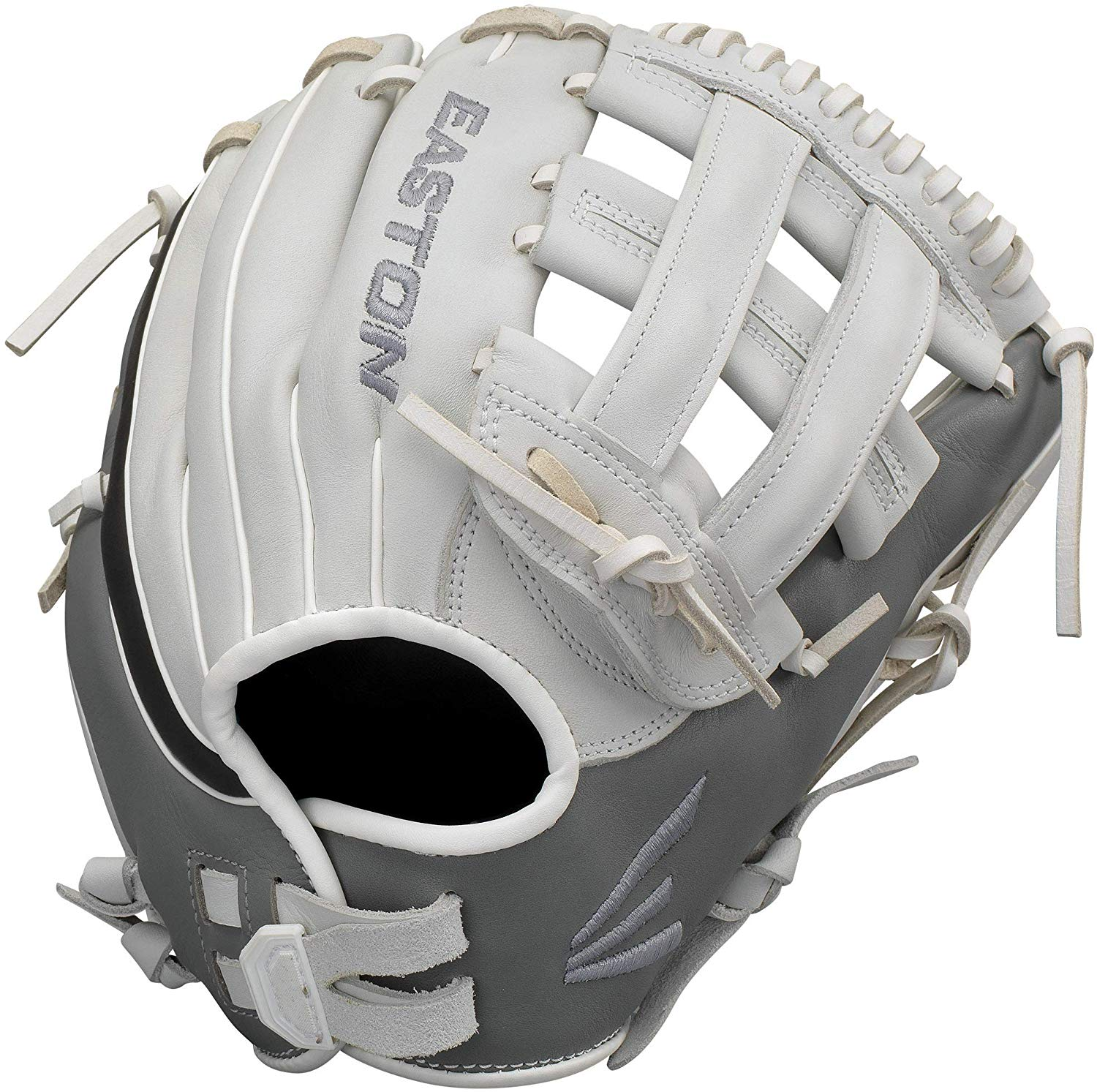 easton-ghost-fastpitch-softball-glove-12-75-right-hand-throw GH1276FP-RightHandThrow Easton 628412270035 Premium Steer USA leather Quantum Closure SystemTM provides adjustable hand opening