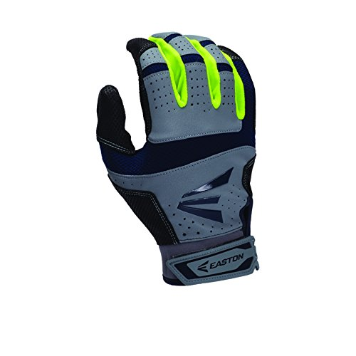 easton-hs9-neon-batting-gloves-adult-1-pair-grey-navy-medium A1218-Grey-NavyMedium Easton New Easton HS9 Neon Batting Gloves Adult 1 Pair Grey-Navy Medium