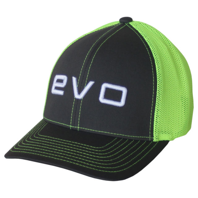 evoshield-evo-flash-flex-fit-cap-greygreen-large-x-large WTV1037320751LGXL  y Polyester Blend Mid crown structured fit Embroidered EvoShield logo on front