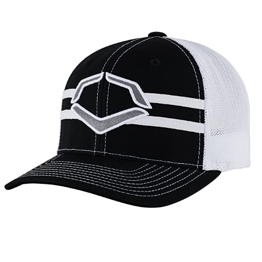 evoshield-grandstand-flexfit-hat-black-white-small-medium WTV1035344010SMMD